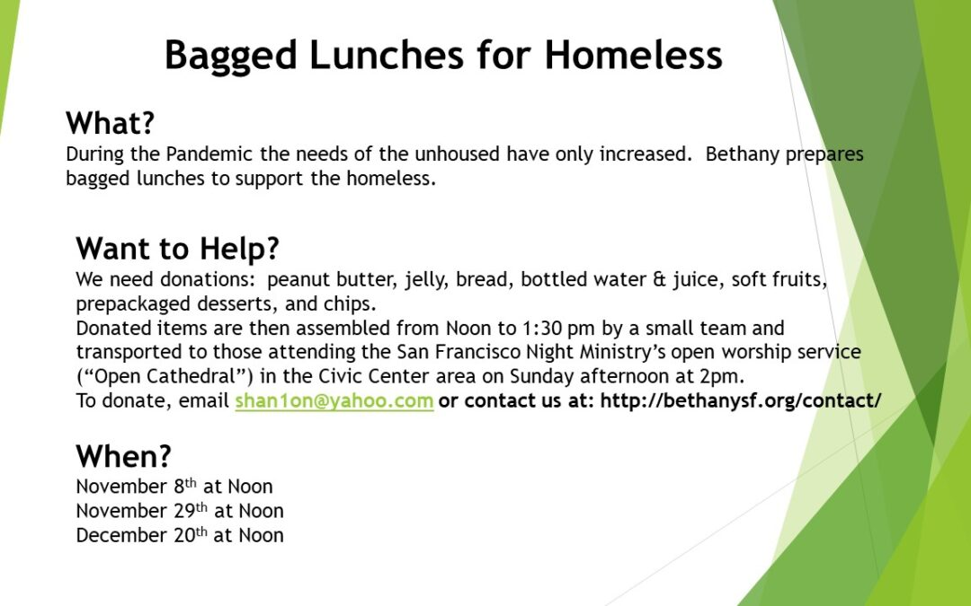 Homeless Sack Lunch Ministry