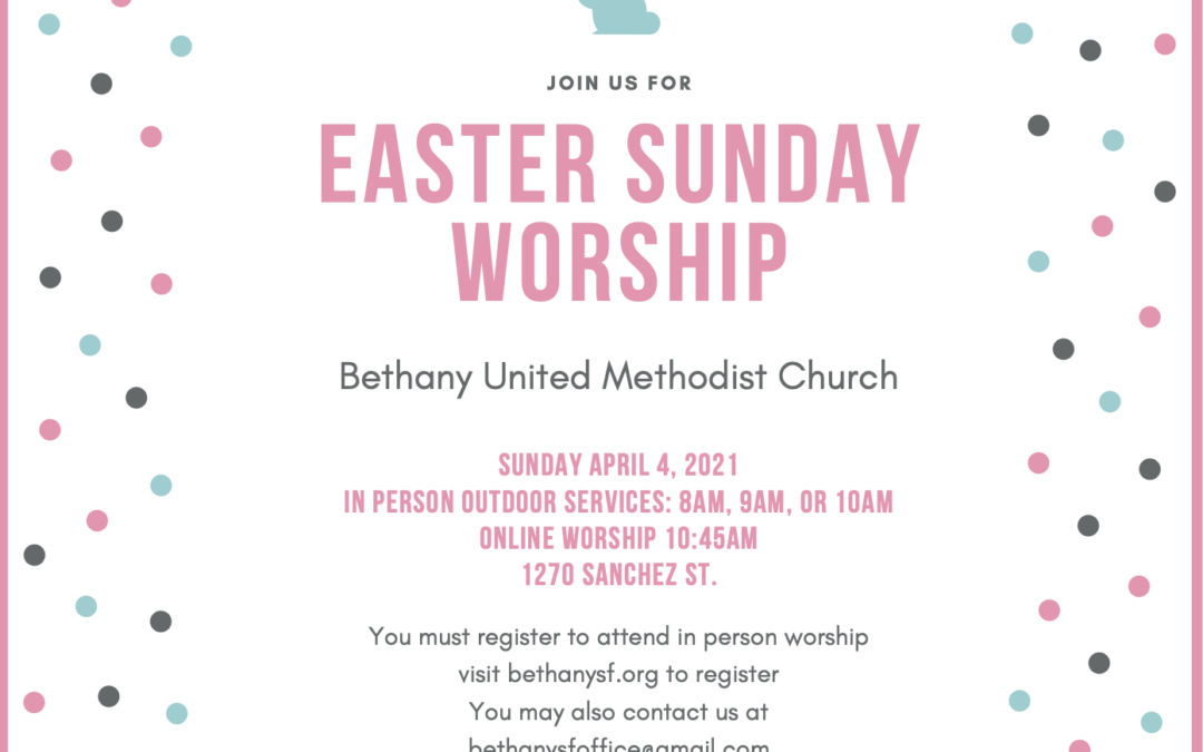 Holy Week and Easter Services at Bethany