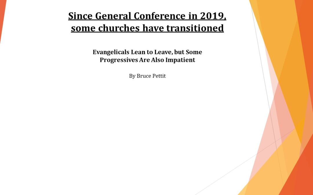 Article on some church transitions, since General Conference 2019